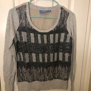 Simply Vera Sweater Shimmer Grey Black Sco…